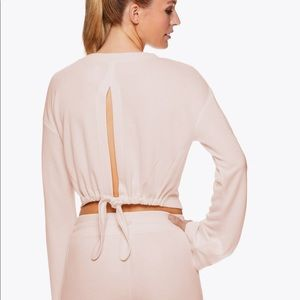Like new! Layering top with back detail